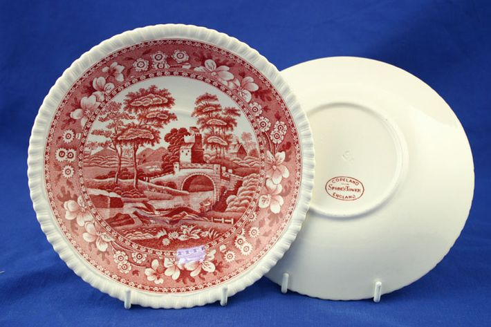 Spode Spode's Tower - Pink - Old Backstamp