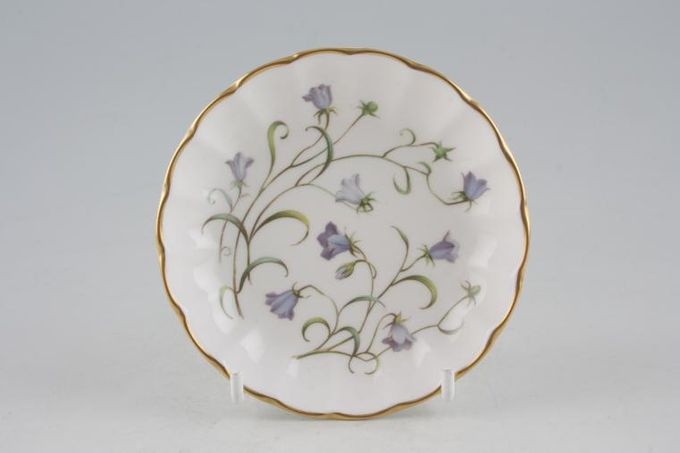 Spode Campanula Coaster Or Butter Pat, fluted edge 4""