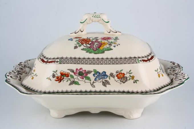 Spode Chinese Rose - New Backstamp Vegetable Tureen with Lid Oblong