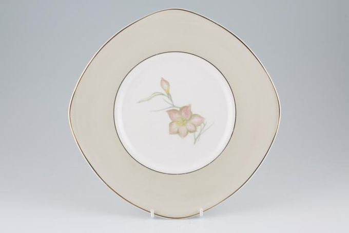 Susie Cooper Day Lily Cake Plate Square 9""