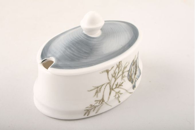 Susie Cooper Glen Mist - Signed In Blue Mustard Pot + Lid
