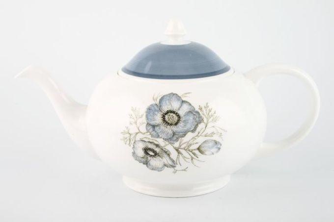 Susie Cooper Glen Mist - Signed In Blue Teapot Round Shape 1 3/4pt