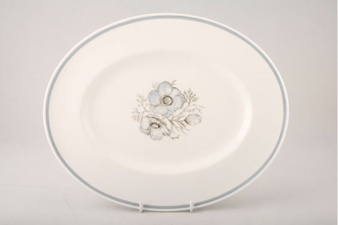 Susie Cooper Glen Mist - Signed In Blue Oval Plate / Platter 13 1/4""