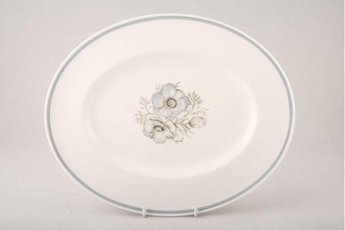 "Susie Cooper Glen Mist - Signed In Blue Oval Plate / Platter 15"""