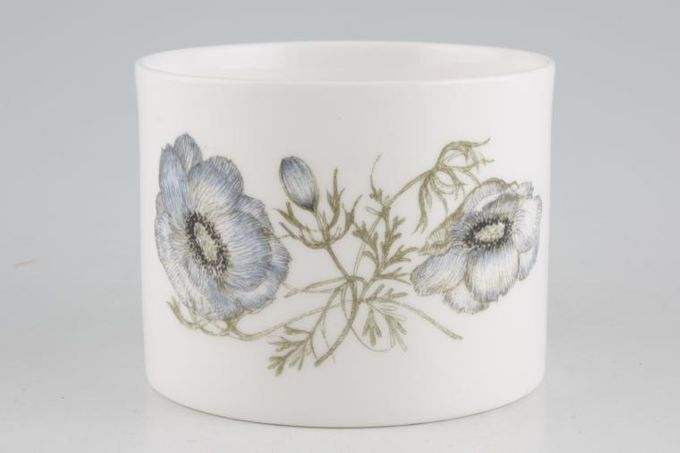 """Susie Cooper Glen Mist - Signed In Blue Sugar Bowl - Open (Coffee) Sraight sided 3 1/4 x 2 1/2"""""""