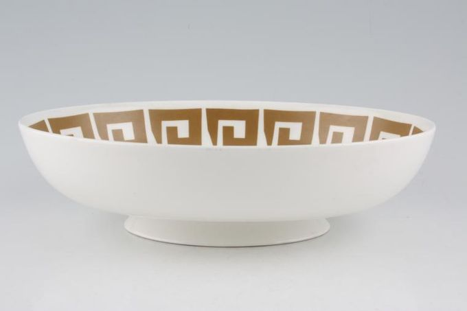 "Susie Cooper Keystone - Old Gold - Black Urn Vegetable Dish (Open) 9 7/8"""