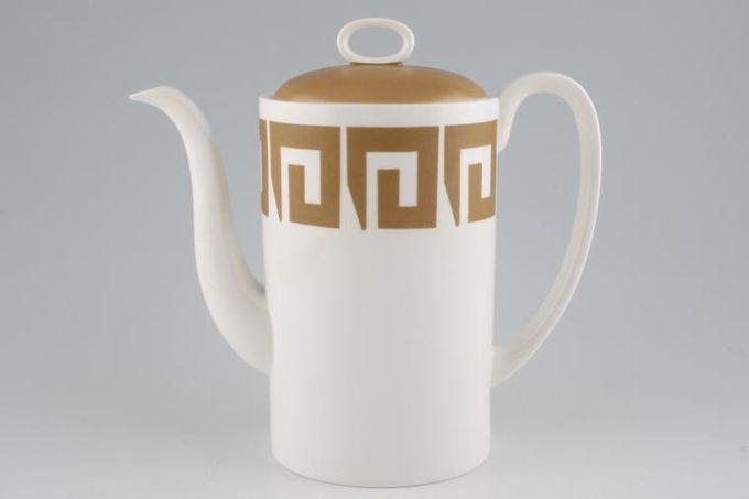 Susie Cooper Keystone - Old Gold - Black Urn Coffee Pot 2 1/4pt