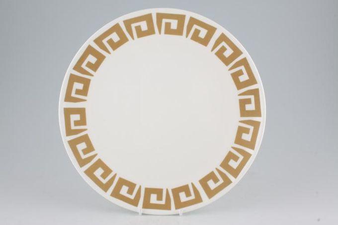 """Susie Cooper Keystone - Old Gold - Black Urn Dinner Plate 10 1/2"""""""