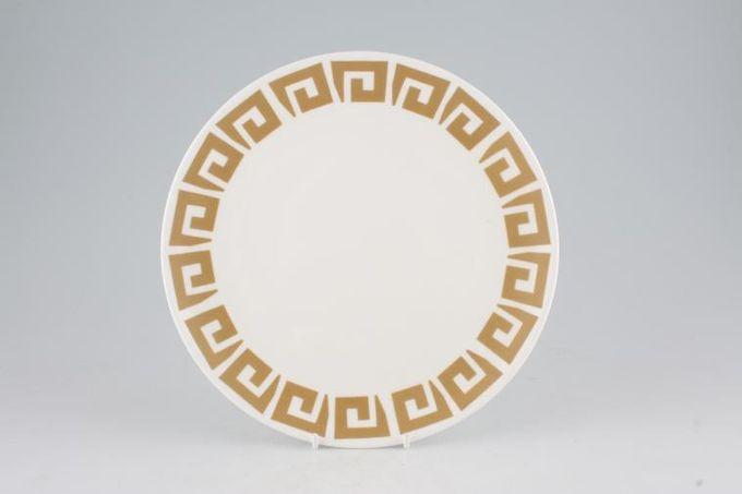 "Susie Cooper Keystone - Old Gold - Black Urn Breakfast / Salad / Luncheon Plate 9 1/4"""