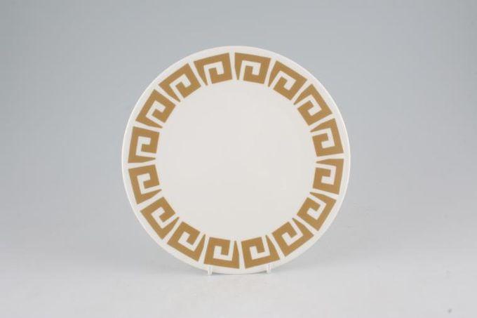 "Susie Cooper Keystone - Old Gold - Black Urn Starter / Salad / Dessert Plate 8 1/8"""