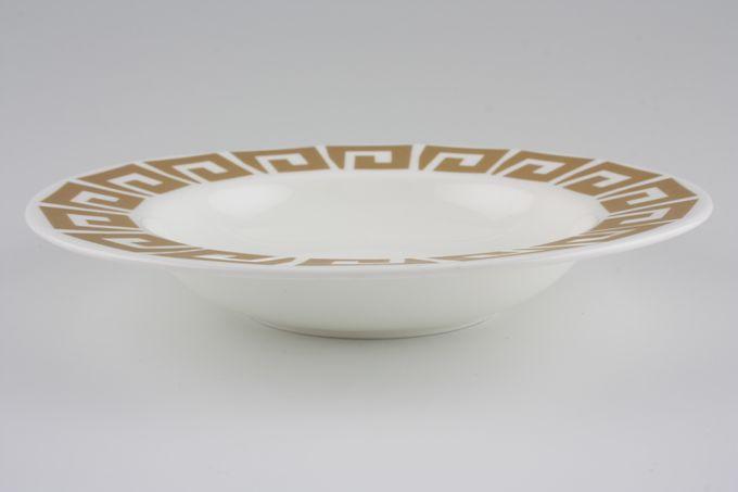 """Susie Cooper Keystone - Old Gold - Black Urn Rimmed Bowl 8"""""""