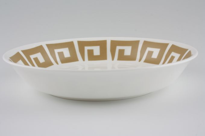 "Susie Cooper Keystone - Old Gold - Black Urn Bowl 7 5/8"""