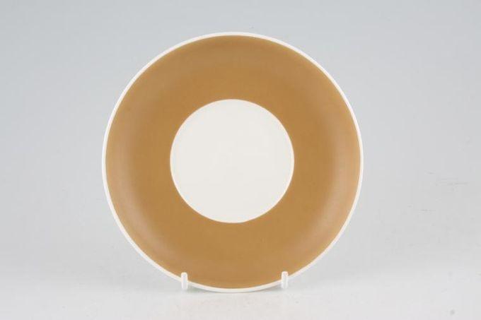 "Susie Cooper Keystone - Old Gold - Black Urn Tea Saucer 5 7/8"""