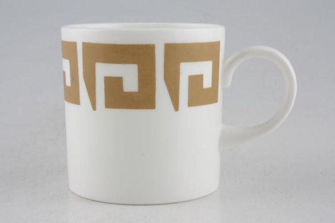 "Susie Cooper Keystone - Old Gold - Black Urn Coffee/Espresso Can 2 5/8 x 2 3/4"""