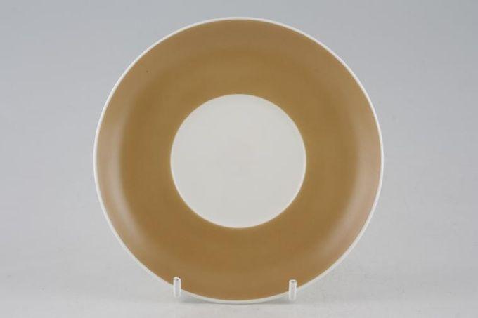 "Susie Cooper Keystone - Old Gold - Black Urn Coffee Saucer 5 1/2"""