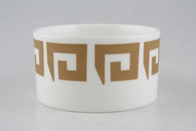 "Susie Cooper Keystone - Old Gold - Black Urn Sugar Bowl - Open (Coffee) 3 x 1 5/8"""