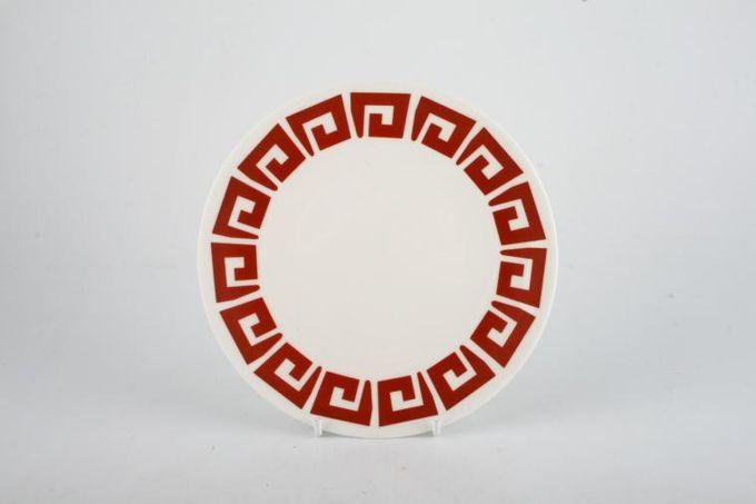 "Susie Cooper Keystone - Red Tea / Side / Bread & Butter Plate 6 1/2"""