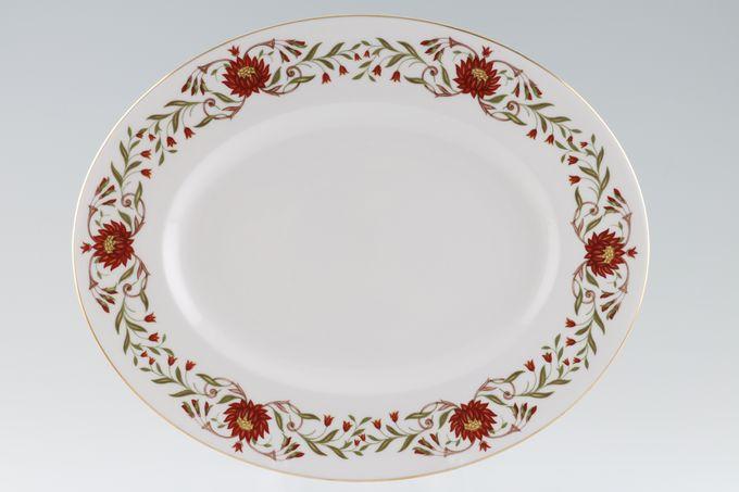 "Susie Cooper Mariposa Oval Plate / Platter 13"""