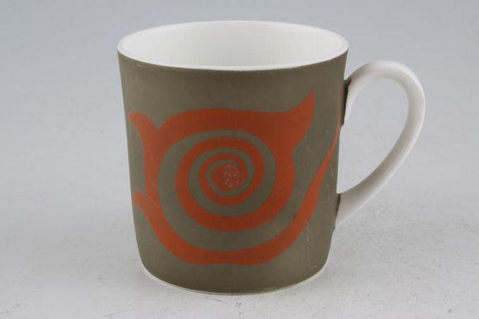"""Susie Cooper Nebula Coffee/Espresso Can Green 2 7/8 x 3"""""""