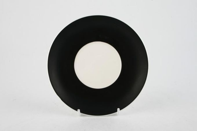"Susie Cooper Nebula Coffee Saucer Black 5 1/2"""