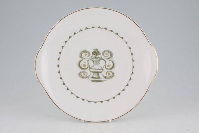 """Susie Cooper Assyrian Motif - C1010 Cake Plate Round, Earred 10"""""""