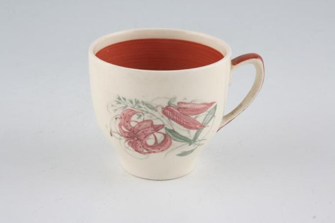 """Susie Cooper Tiger Lily Coffee Cup 2 1/2 x 2 1/4"""""""