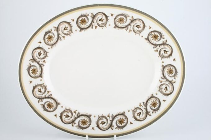 "Susie Cooper Venetia - Signed Oval Plate / Platter 15"""