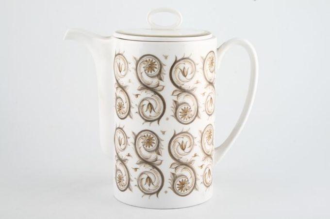 Susie Cooper Venetia - Signed Coffee Pot Round 2pt