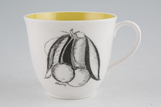 "Susie Cooper Black Fruit - Cherry Teacup Signed 3 1/4 x 2 3/4"""