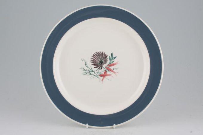 "Susie Cooper Blue Dahlia Dinner Plate 10"""