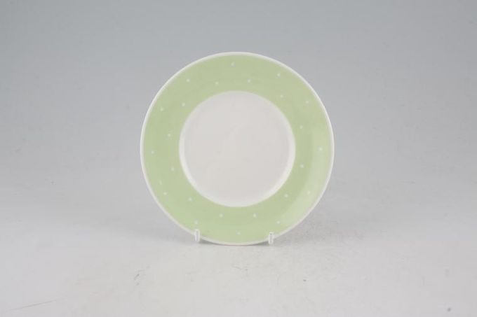 Susie Cooper Raised spot - Apple Green Tea / Side / Bread & Butter Plate 5 5/8""
