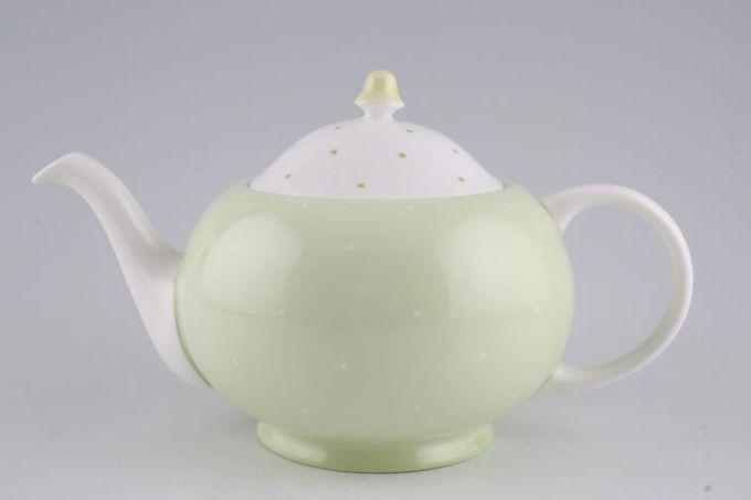 Susie Cooper Raised spot - Apple Green Teapot 1 1/4pt