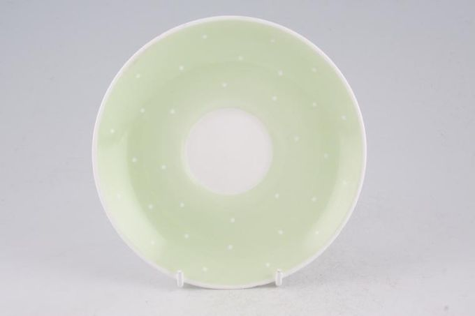 Susie Cooper Raised spot - Apple Green Tea Saucer 5 3/4""