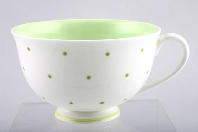 Susie Cooper Raised spot - Apple Green Teacup 3 3/4 x 2 1/4""