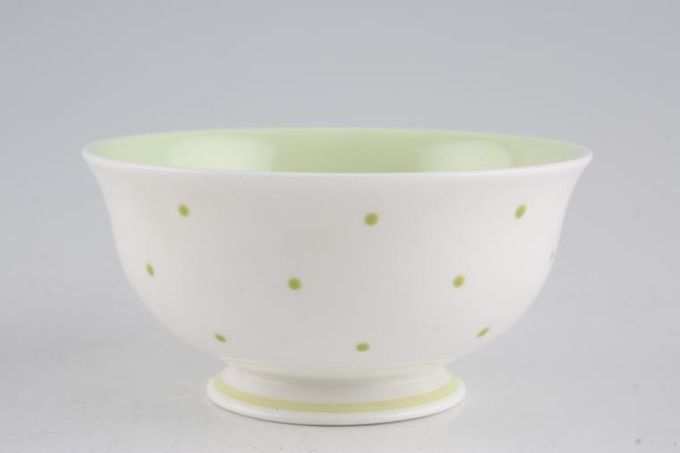 Susie Cooper Raised spot - Apple Green Sugar Bowl - Open (Coffee) 3 5/8""
