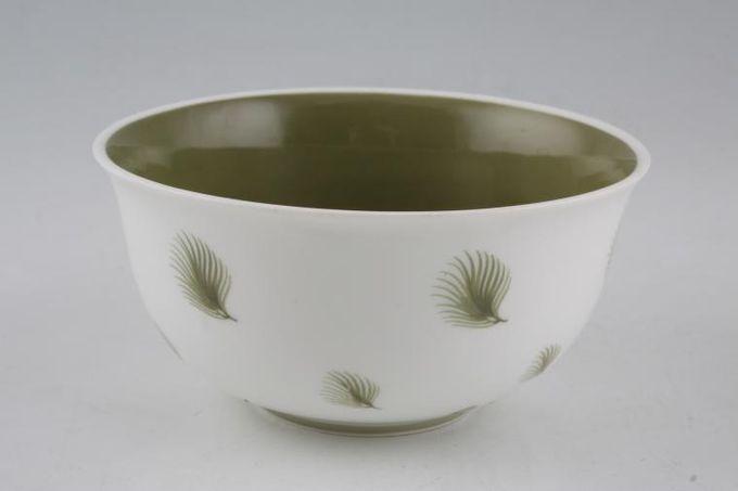 "Susie Cooper Whispering Grass - Green Sugar Bowl - Open (Tea) 4 1/2"""