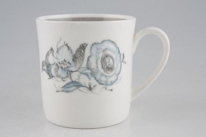 "Susie Cooper Peony - Grey Border Teacup 2 7/8 x 3"""