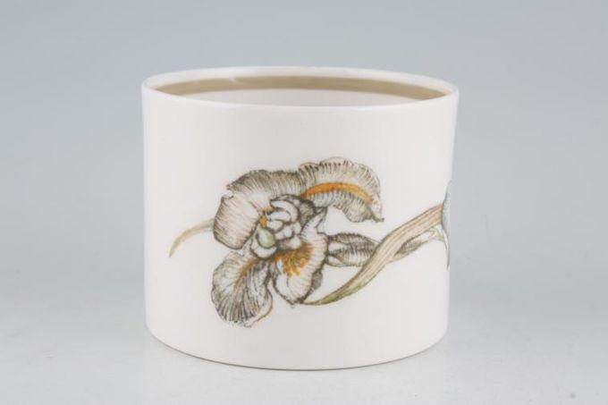 """Susie Cooper Iris - Light Brown Rim - C2087 Sugar Bowl - Open (Tea) 3 3/8"""""""