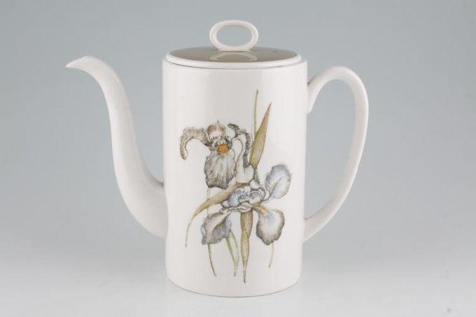 Susie Cooper Iris - Light Brown Rim - C2087 Coffee Pot 2 1/2pt