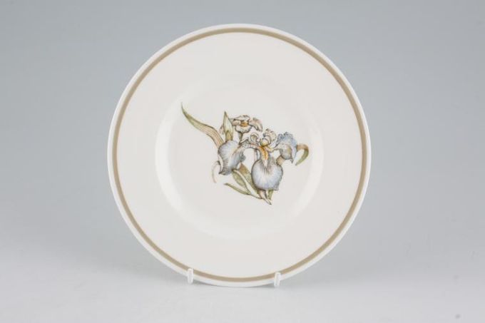 "Susie Cooper Iris - Light Brown Rim - C2087 Tea / Side / Bread & Butter Plate 6 5/8"""