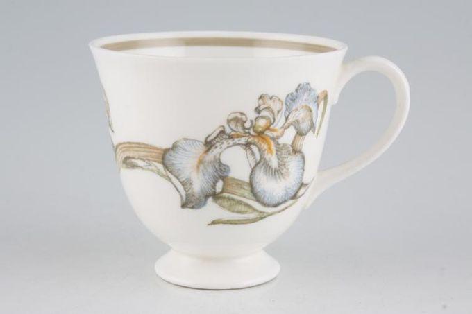 """Susie Cooper Iris - Light Brown Rim - C2087 Teacup 3 1/4 x 3"""""""