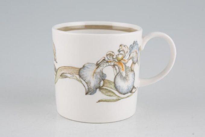 "Susie Cooper Iris - Light Brown Rim - C2087 Coffee/Espresso Can 2 5/8 x 2 5/8"""