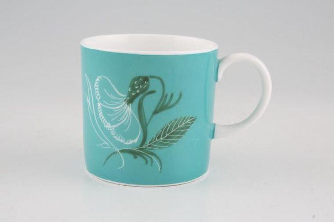 "Susie Cooper Flower Motif Coffee/Espresso Can Jade - FM2, Signed B/S 2 1/2 x 2 1/2"""