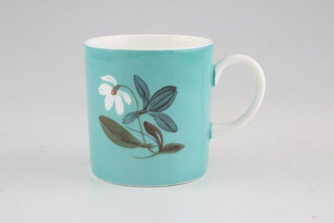 "Susie Cooper Flower Motif Coffee/Espresso Can Jade - FM1 Black Urn B/S 2 1/2 x 2 5/8"""