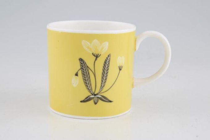 Susie Cooper Flower Motif Coffee/Espresso Can Maize - FM3, Signed B/S 2 1/2 x 2 1/2""