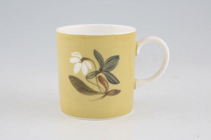"Susie Cooper Flower Motif Coffee/Espresso Can Maize - FM1, Black Urn B/S 2 1/2 x 2 5/8"""