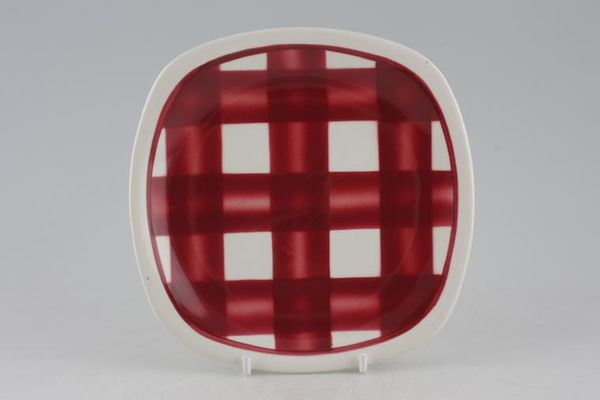 T G Green Patio Gingham - Red
