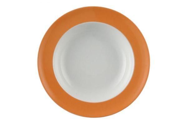 Thomas Sunny Day - Orange Rimmed Bowl 23cm