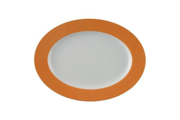 Thomas Sunny Day - Orange Oval Plate / Platter 33cm