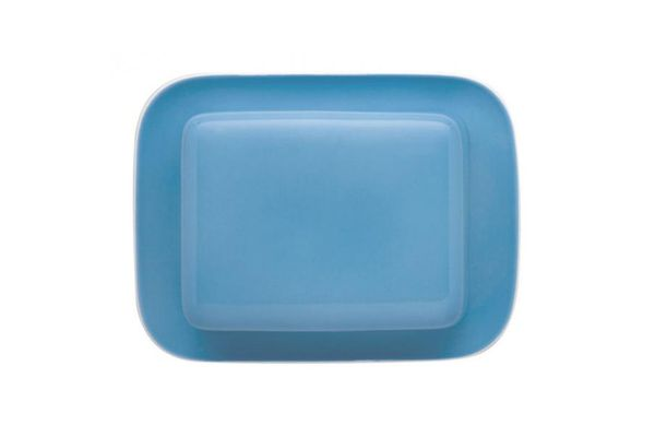 Thomas Sunny Day - Waterblue Butter Dish + Lid